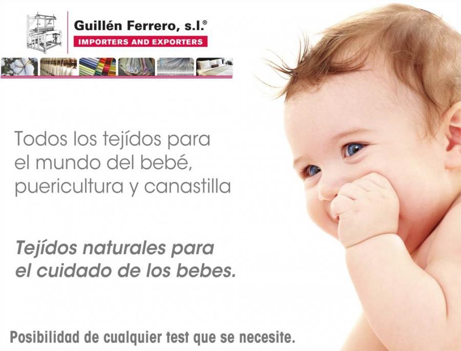 Guillén Ferrero, S.L. asiste a PUERICULTURA 2015 en Madrid, con la finalidad de presentar sus nuevos tejidos.