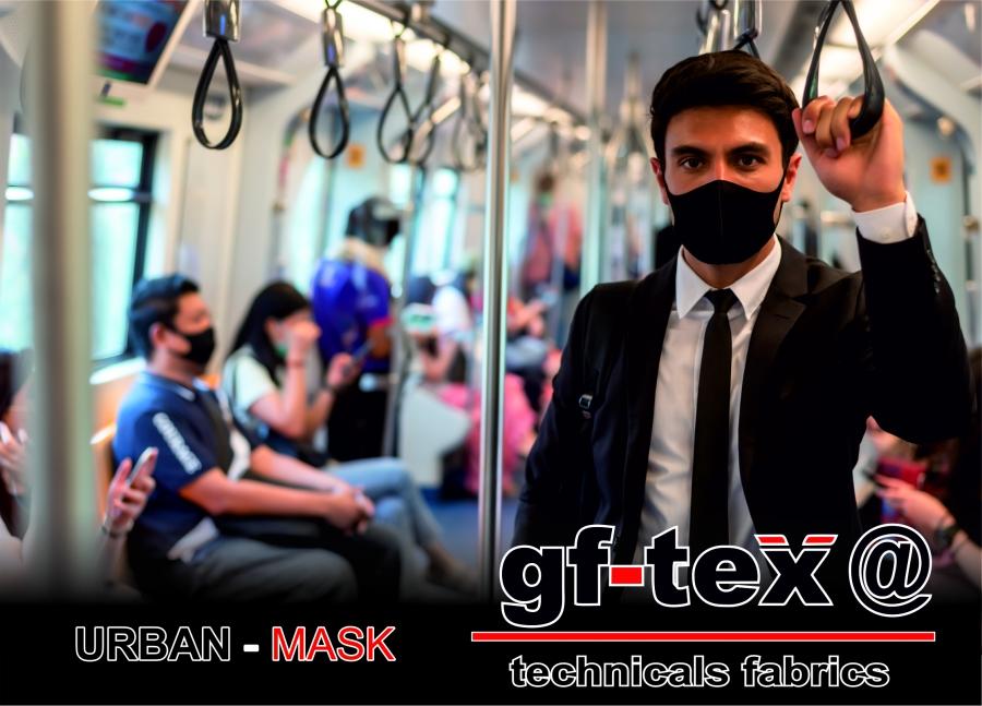 Tejidos para mascarillas personalizadas de uso diario. Nuestras tecnologías aplicadas a nuestros tejidos. GF Tex@ URBAN MASK.