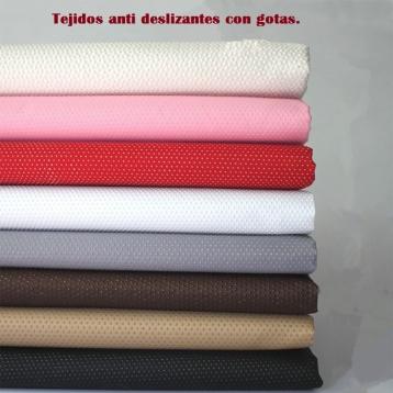 Tejidos de microfibra con gotas de latex, para conseguir tejidos anti deslizamiento, son tejidos que Guillén Ferrero, S.L. empieza a comercializar.