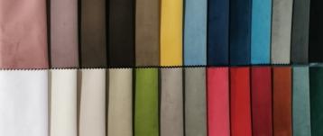 Distribución y comercializacón de las cartas de colores de terciopelo en 3,00 mtrs de ancho.